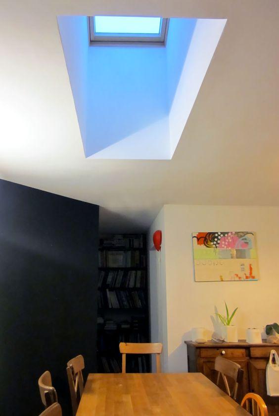 r aliser un puit de lumi re par v lux dans une maison de plein pied montage murs et cloisons. Black Bedroom Furniture Sets. Home Design Ideas