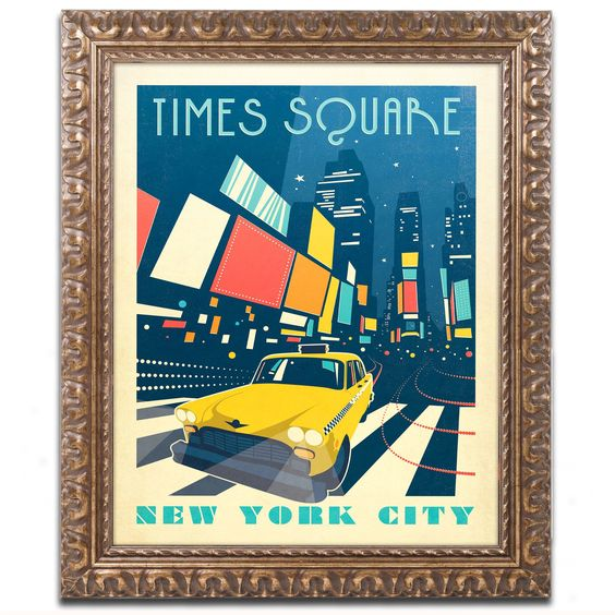 Times Square by Anderson Design Group Framed Graphic Art