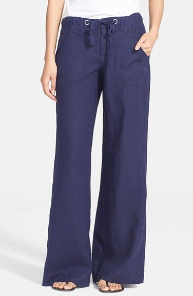 Joie Wide Leg Linen Pants available at #Nordstrom: