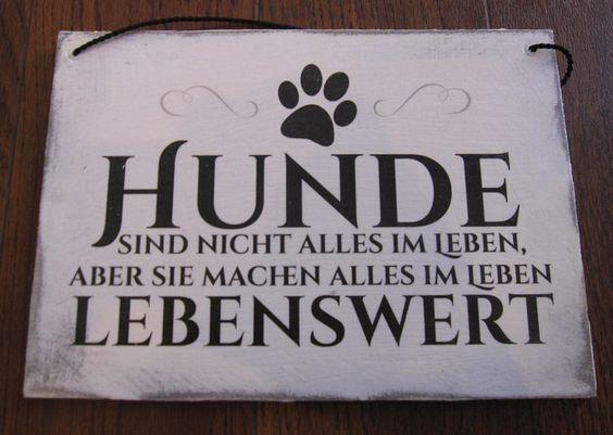 Aufkleber & Schilder - Holzschild Hunde sind nicht alles...... - ein Designerstück von Pauline070179 bei DaWanda