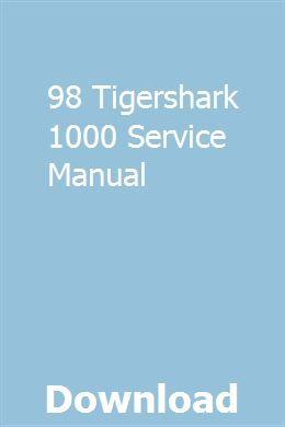 98 Tigershark 1000 Service Manual Manual Mercury Marine Repair Manuals