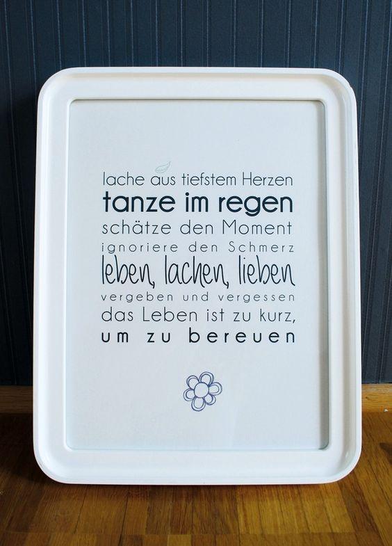"""Druck mit Spruch """"Leben, lachen, lieben"""" // print with saying by Formart via DaWanda.com"""