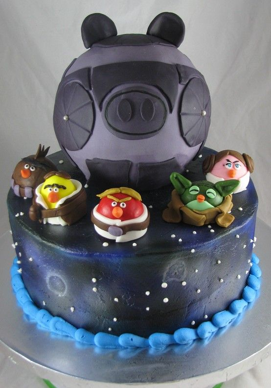 Angry Birds Star Wars birthday cake! I know Dil will love ...