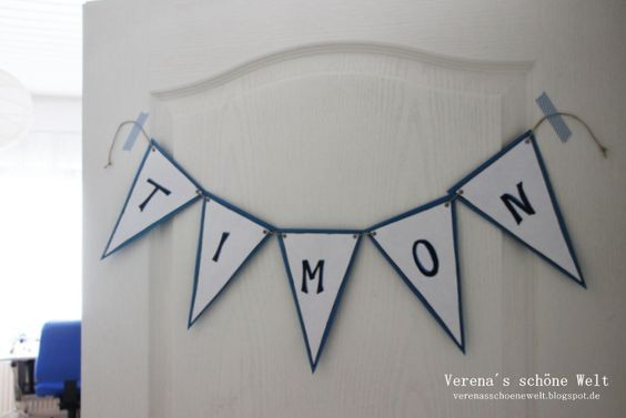 Verenas schöne Welt: DIY Namensschilder :: DIY name banner ideas for kids room