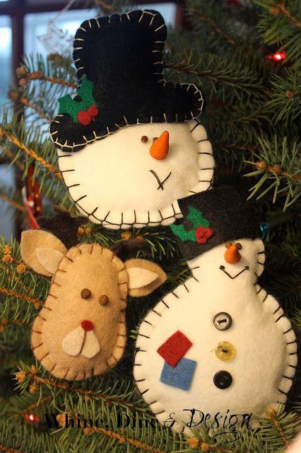 Felt Christmas Ornaments Easy Diy Ho Ho Ho Pinterest