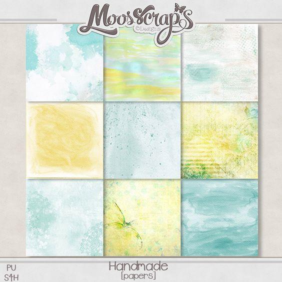 """Didinou Scrap - ****NOUVEAU**** Kit """"Handmade"""" By Caro Moosscrap Moses www.oscraps.com/..."""
