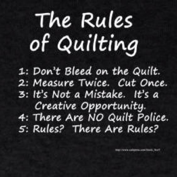 quilting rules