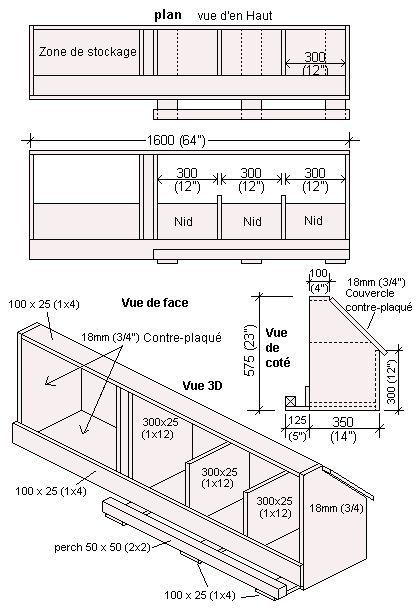Plan D Un Poulailler Chicken Coop Designs Huhnerstall Huhner
