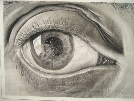 My recreation of M.C Escher's Eye 1946 Mezzotint, 7th and final stage