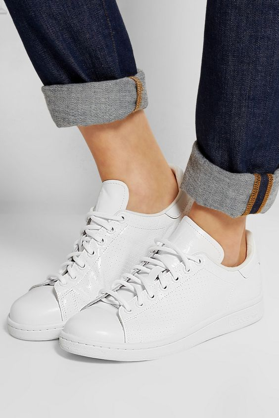 adidas Originals | Stan Smith perforated leather sneakers | NET-A-PORTER.COM