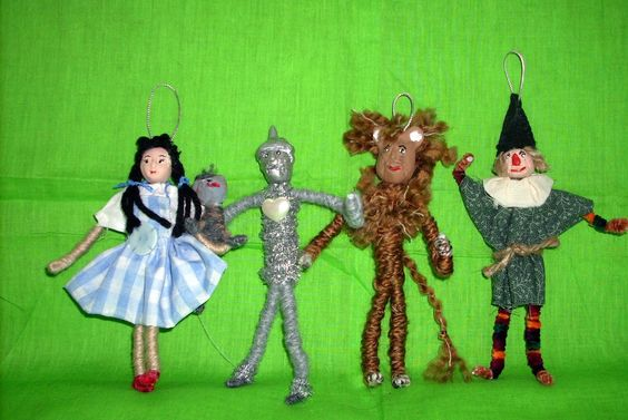 ARLENE: Wizard of Oz Set of 9 Handcrafted Christmas Ornaments Miniatures Movie Characters Collectible Home Decor  Dorothy Lion. $58.00, via Etsy.