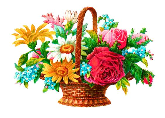 digital flower basket image: