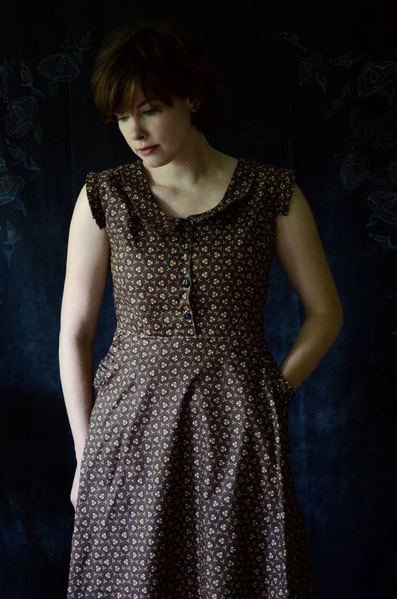 Jurk / Sullivan 1934 jurk / Peter Pan kraag jurk door LetsBacktrack