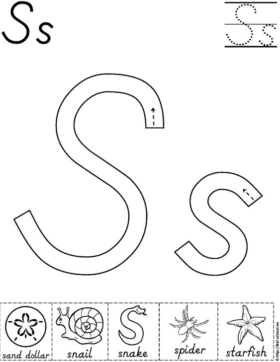 Alphabet Letter S Activity Worksheet | D'Nealian | Preschool ...