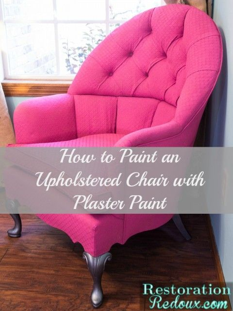 Plaster Painted Pink Chair http://www.restorationredoux.com/pink-plaster-painted-vintage-chair/
