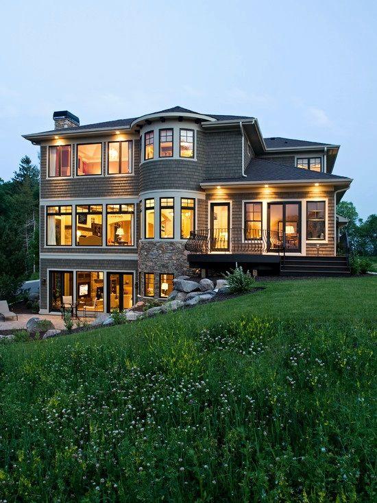 front walkout basement house plans - Google Search