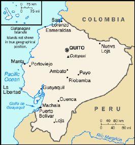 Ecuador Map Major Cities - Peru major cities map