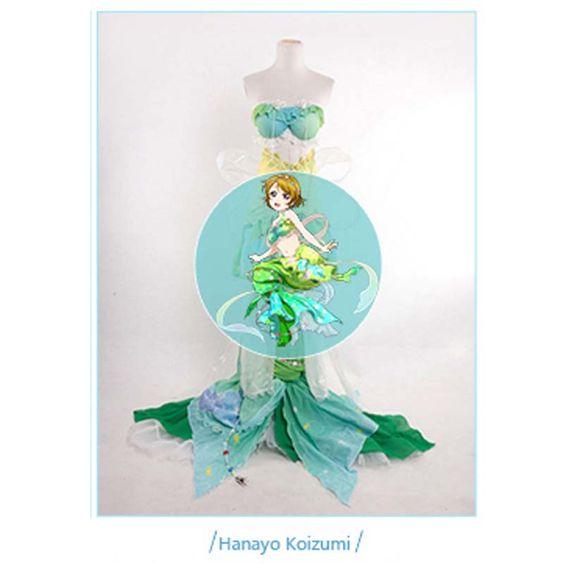 Love Live Honoka Kotori Umi Eli Nozomi Maki Rin Hanayo Nico Mermaid cos Dress Cosplay Costume Halloween costume