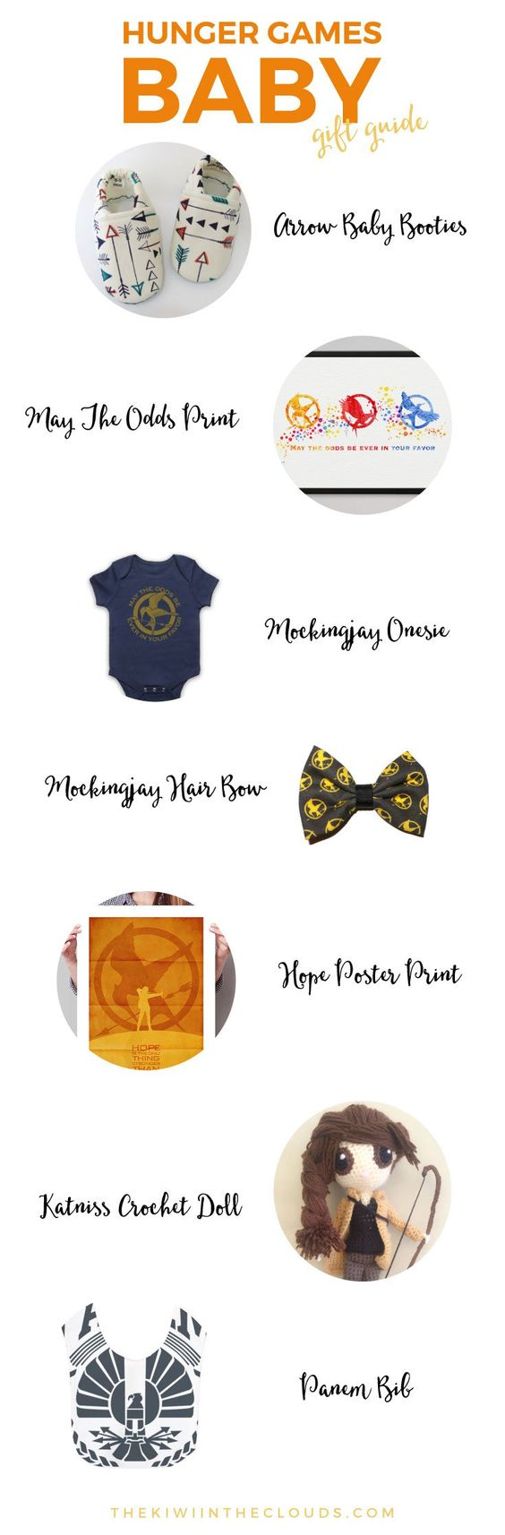 Hunger Games Baby Gift Guide   If you can't get enough of the Hunger Games and have a little tribute on the way, then click through to check out the cutest Hunger Games products for little ones.