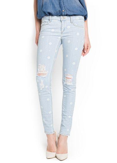 Mango gepunktete Jeans (29,99€)