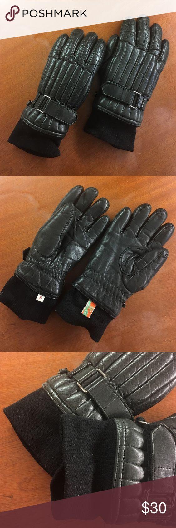 Black leather gloves small - Kombi Ski Snowboard Women S Small Leather Gloves Great Condition Small Women S Black