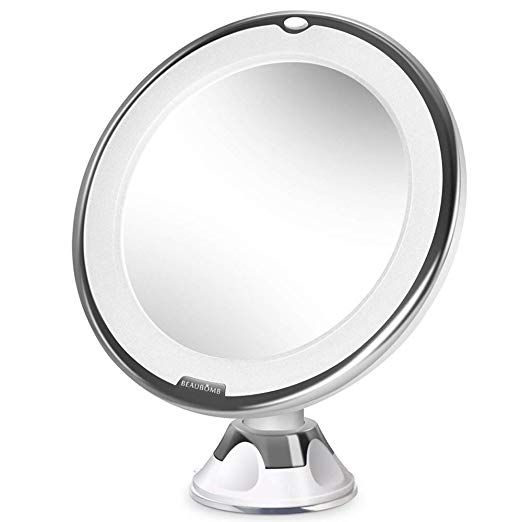 Beaubomb Makeup Mirror Led Lighted 10x Magnifying Vanity Portable Travel Mirrors With Natural Daytime White Lights 360 Degre Mirror Travel Mirror Makeup Mirror