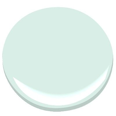 Spring Mint paint by Benjamin Moore - I think this color would be a beautiful contrast to our large, dark wood bedroom furniture