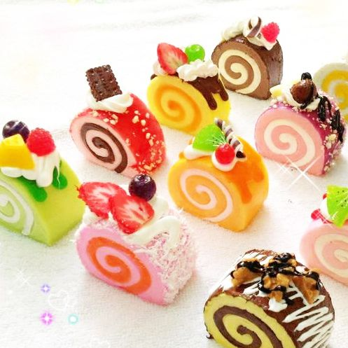 Squishy Cake Food 52 : Cake rolls, Cakes and Charms on Pinterest