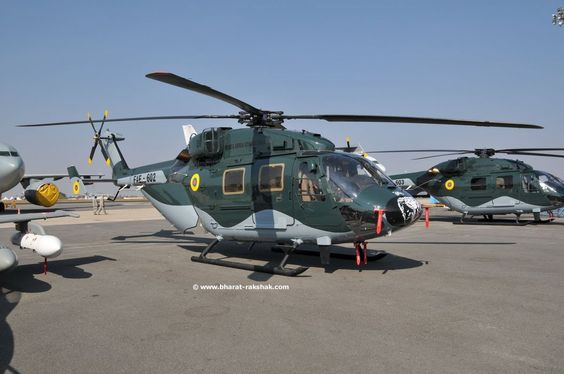 Hal Dhruv utility helicopters (Indian made)