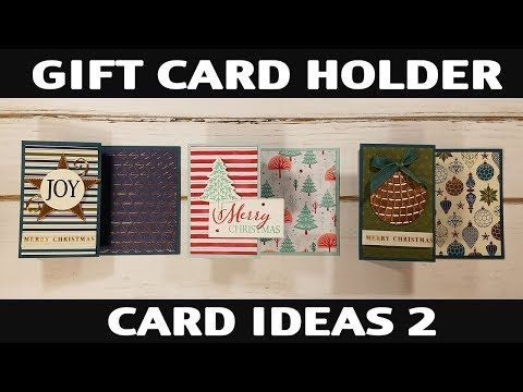 Stamping Jill Gift Card Holder Card Ideas 2 Youtube Gift Card Holder Gift Cards Money Gift Card Holder Diy