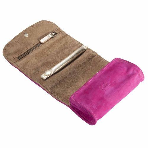 Jewelry roll, nubuk leather, pink | desiary.de - identity store