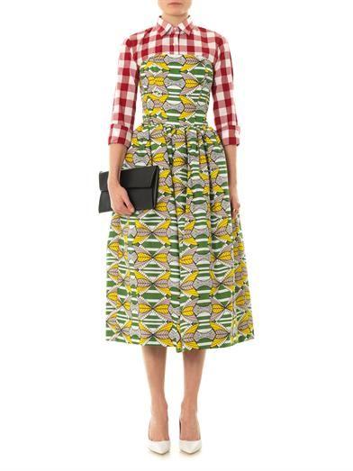 Stella Jean Genziana tribal-print strapless dress