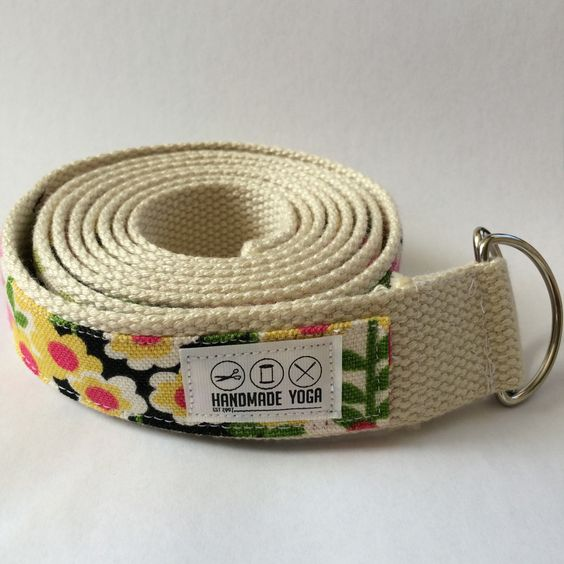Yoga straps don't have to be boring! Pick a busy patterned strap and use it as a focal point during practice.