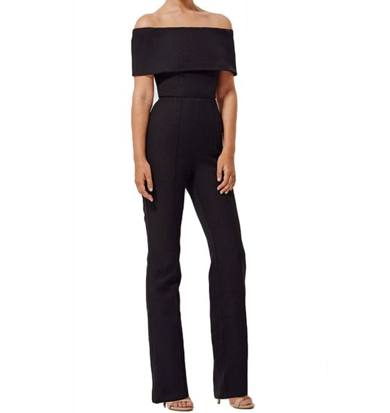 Black off the shoulder jumpsuit. #jumpsuits #offtheshoulder #blackjumpsuit #jumpsuit #black #elegant #classy #slay