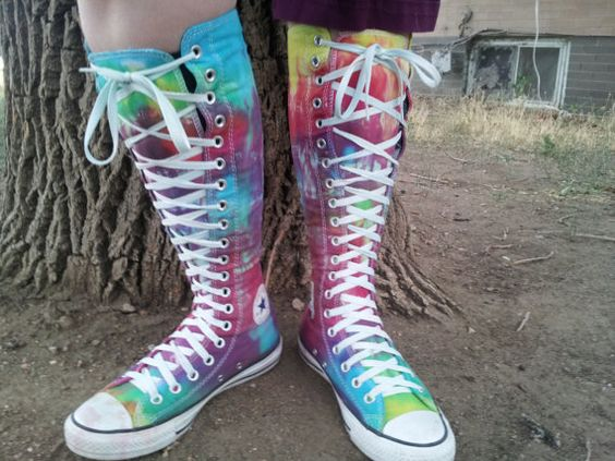 Tie Dye Ultra High Top Converse by LittleColorMonster on Etsy
