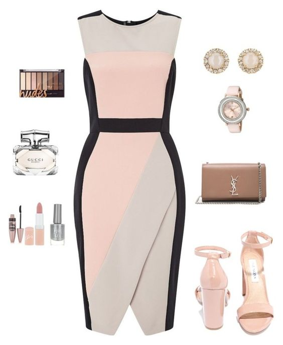 """Office Queen"" by allieofficial on Polyvore featuring Miss Selfridge, Steve Madden, Yves Saint Laurent, Kate Spade, Ted Baker, Gucci, Rimmel, Maybelline and New Look"