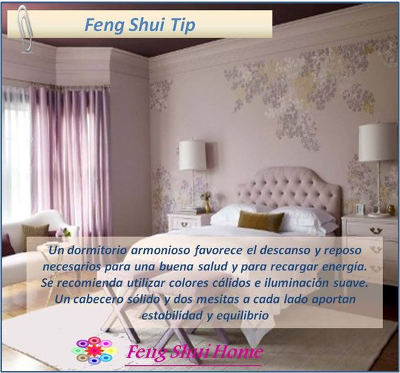 Feng shui tips tips and feng shui on pinterest - Feng shui dormitorio ...