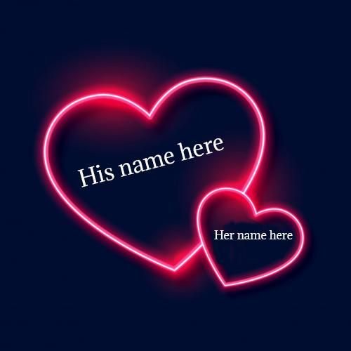 Love Lighting Heart Pic With Couple Name Edit With Images Love