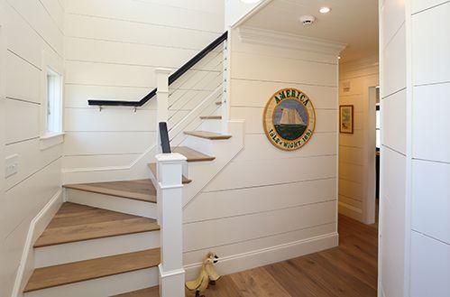 Shiplap Stairs Sawyer Mason Copley Floors Wall Paneling White Paneling Beadboard Wainscoting