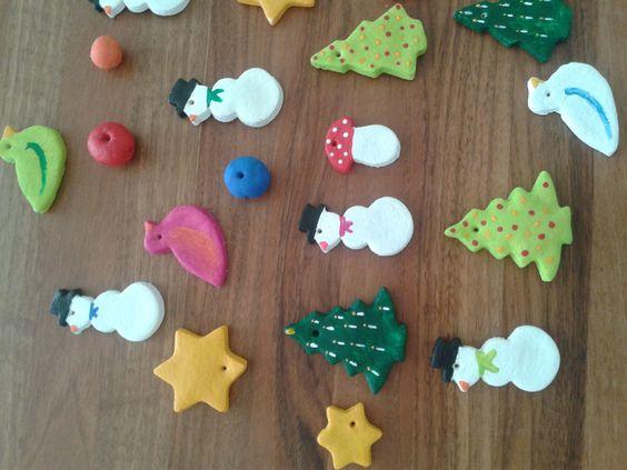 Weihnachtsbaumschmuck aus salzteig herbst basteln for Salzteig ideen