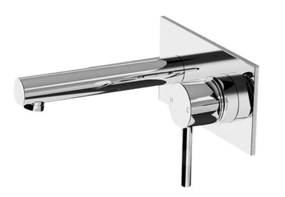 Paco Jaanson Rondo Plate Mount Wall Mixer & Spout