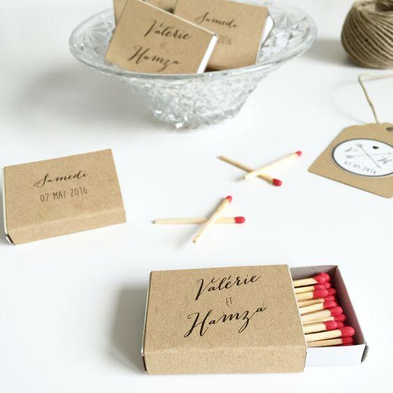 mariage champtre en bretagne nos boites dallumettes personnalises en kraft idal pour - Allumettes Personnalises Mariage