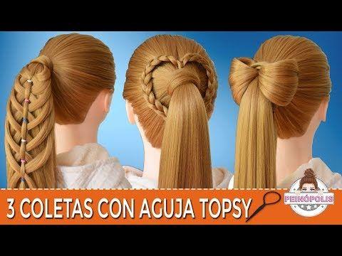3 Coletas Con Trenzas Con Aguja Topsy Peinados Faciles Y Rapidos Para Ninas Youtube Peinados Faciles Y Rapidos Peinados Con Trenzas Peinados Faciles
