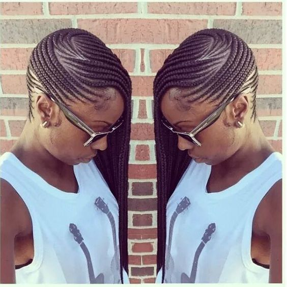 Outstanding Braids Side Cornrows And Cornrows On Pinterest Hairstyles For Women Draintrainus