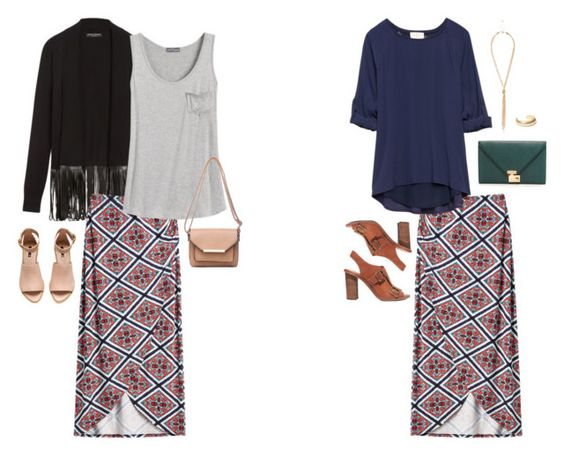 i like the cross over front of this skirt...it gives the maxi new life!!
