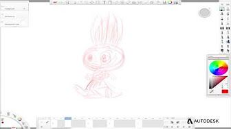 2d animation using sketchbook pro flipbook - YouTube