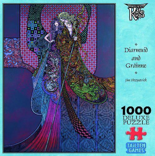 Diarmuid & Grainne Kells Jim Fitzpatrick 1000 Piece Puzzle by Tailten Games, http://www.amazon.com/dp/B00F2L075K/ref=cm_sw_r_pi_dp_Pj7nsb1BX83AV