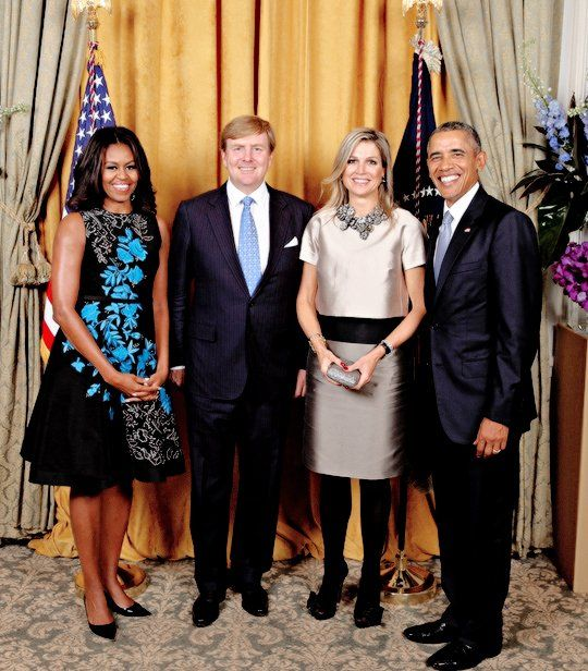 Dutch Royal Couple met with Barack Obama and First Lady Michelle Obama. Sept 29, 2015:
