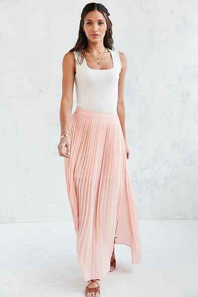 Kimchi Blue Pleated Maxi Skirt - Urban Outfitters