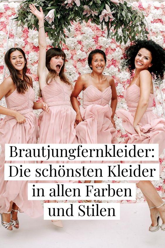 Entdeckt die schönsten Brautjungfernkleider und Looks für eure besten Freundinnen. in allen Farben, Stilen und Preiskategorien.